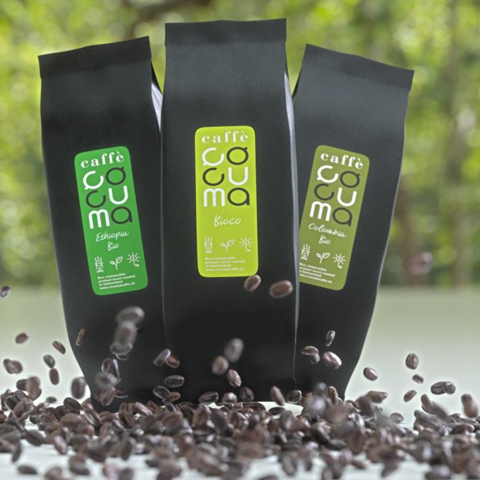 Drei Bio Kaffees