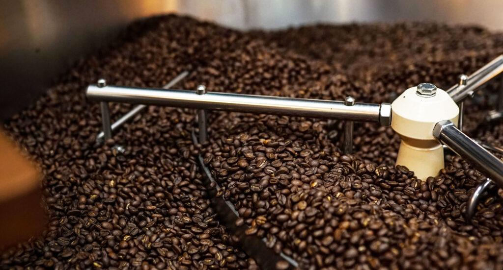Abkühlung der Kaffeebohnen
